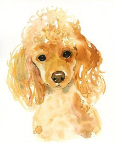 CUSTOM PET PORTRAIT Original watercolor painting by dimdi on Etsy