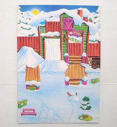 Basteldiorama Diorama Dioramen Kinder Décor À Monter Le Chalet Des Ski Bunnies | eBay