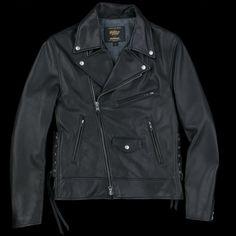 UNIONMADE - Golden Bear - Lamba Leather Capitola Moto Jacket in Black
