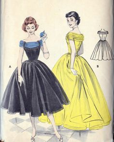 1950s Misses Ball Gown Evening Gown Prom Dress