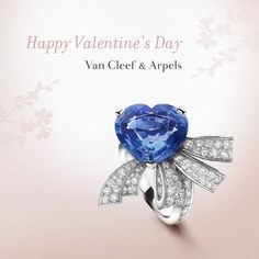 Van Cleef & Arpels: Nœud Cœur solitaire in platinum adorned with a 9.80-carat heart-shaped sapphire and diamonds