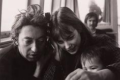 Serge Gainsbourg, Jane Birkin and baby Charlotte Gainsbourg