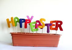 Happy Easter Decoration Sign Letters Home  Garden by BHBKidstyle, €15,00