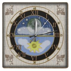 sunmoon dial wall clock - just awesome!