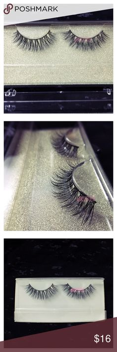 Charm Faux Mink Lashes Handmade full & natural. Faux Mink Lashes replicate the look and feel of Mink Lashes with synthetic fibers. Reusable up to 15+ times.  Ask if any questions. HAPPY POSHING 😍  PRICE FIRM. Makeup False Eyelashes