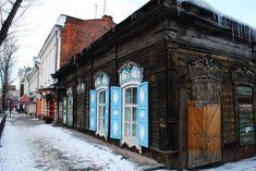 Antica casa prefabbricata in legno