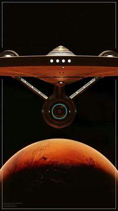 """""""Star Trek"""". The 'Enterprise' of Star Fleet."""