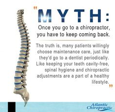 Spinal health and Chiropractic adjustments makes for a healthy lifestyle. Don't go for any myths.  #chiropractichealth #whychiropractic #chiropractic1st