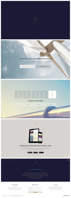 JG website concept.