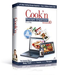 Cook'n Recipe Organizer giveaway, ends 10/12/12.