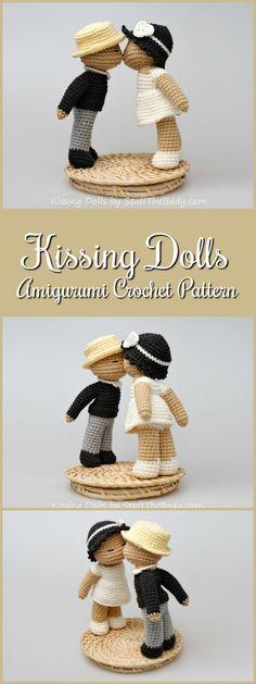 Kissing Dolls Amigurumi Pattern, Wedding Crochet Gift, Bride and Groom, Wedding Topper, valentines day, bridal shower #etsy #ad #amigurumi #amigurumipattern #crochetpattern #pdf