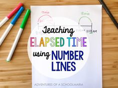 Are your students struggling to learn elapsed time? Using a number line is one of my favorite strategies to help students understand elapsed time problems. This post shares 2 different ways they can use a number line to solve elapsed time math problems. // Adventures of a Schoolmarm
