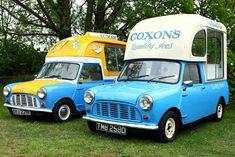 Durham Mini Show 2015 Vintage Ice Cream, Ice Cream Van, Old Commercials, Mini Trucks, Minivan, Commercial Vehicle, Classic Mini, Classic Trucks, Durham