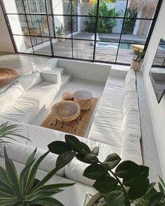 Dream Home Design, My Dream Home, Home Interior Design, Interior Architecture, Exterior Design, Zen House Design, Windows Architecture, Interior Livingroom, Interior Plants