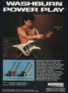 Washburn SR Series guitar 1985 advertisement 8 x 11 ad print Prs Guitar, Guitar Amp, Cool Guitar, Guitar Girl, Guitar Magazine, Magazine Ads, Washburn Guitars, Neal Schon, Guitar Classes