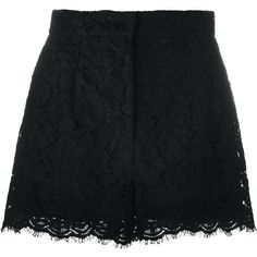 Dolce & Gabbana floral lace shorts (257.280 HUF) ❤ liked on Polyvore featuring shorts, bottoms, short, pants, skirts, black, floral lace shorts, scalloped lace shorts, scalloped shorts and high-waisted shorts