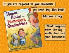 funny book to read when talking about homework expectations. I have this book I'll have to use it