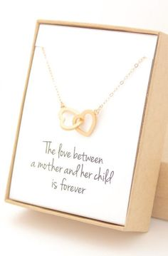 Gold Interlocking Hearts Necklace