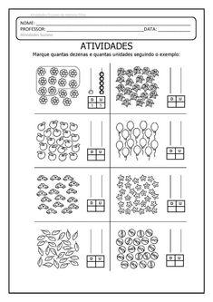 Free Kindergarten Worksheets, Kindergarten Math, Teaching Math, I Love Math, Tens And Ones, Grande Section, Math Books, 2nd Grade Math, Math For Kids