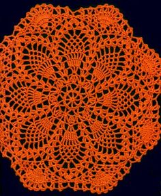 Pineapple Á L'Orange Doily Free Pattern. Click on the link to see a picture.