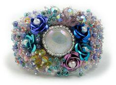 Primrose Bead Embroidery Bracelet
