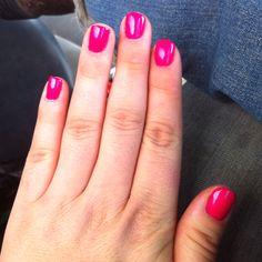 neon barbie pink nails color used gelish   make you