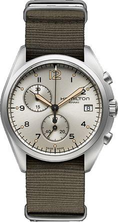 H76552955, , Hamilton pilot pioneer chrono watch, mens