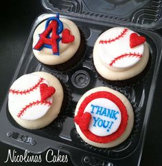 Angels of Anaheim 2 Dozen Cupcake Toppers by NicolinasCakes, $34.00