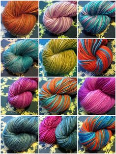 some of my handdyed yarns