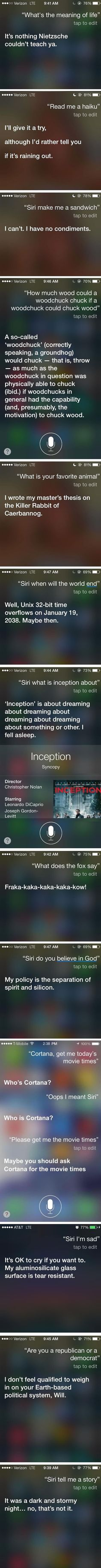 Hilarious answers from Siri