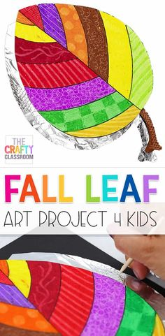 Halloween Art Projects, Fall Art Projects, Projects For Kids, Kids Crafts, Artists For Kids, Art For Kids, Autumn Art Ideas For Kids, September Art, Autumn Leaves Craft