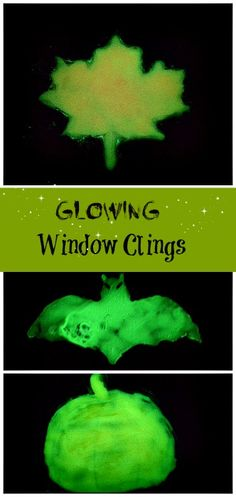 GLOWING homemade window clings - how fun!