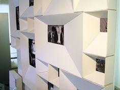 Interior design room: modular frame no. 1520 cardboard wall display by c. fabri and m. tondi for cortepack