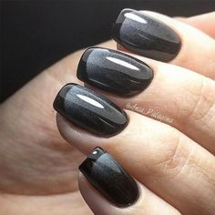 Black French Nail Design Unique and classy French manicure for your elegant look!Trending Black French Nail Design Unique and classy French manicure for your elegant look! French Manicure Gel, French Manicure Designs, French Tip Nails, Manicure And Pedicure, Nail Art Designs, French Manicures, French Tips, French Pedicure, Black Pedicure