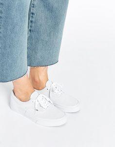 Image 1 - Vans - Era - Baskets à lacets perforées - Blanc