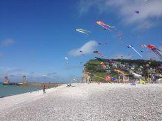 Au gré du vent sur la plage de Fécamp