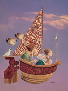 Saints and Angels The boat with paisley sails