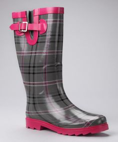 Look what I found on #zulily! Charcoal Chevy Plaid Rain Boot  by Western Chief #zulilyfinds