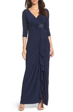 Main Image - Adrianna Papell Jersey Gown