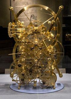 A working replica of Harrison's H3 timekeeper. Skeleton Clock, Compas, Steampunk Gadgets, Mechanical Clock, Sundial, Automata, Old Clocks, Antique Clocks, Clock Shop