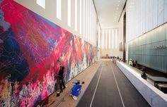 Mural at 1 World Trade Center by José Parla' One World Trade Center, Trade Centre, New York One, Old Advertisements, American Artists, Art World, Worlds Largest, Street Art, Design