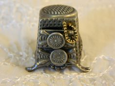 Pewter Thimble Jewelry Chest With Drawers That Open Signed BY Nicholas Gish | eBay  Aug 24, 2013 / $37.01 / 1,221.49 RUB