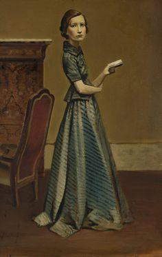 Balthus: Portrait de Femme en Robe Bleue (Mme Georges Hilaire), 1935.