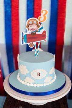 Boys Airplane Themed Birthday Party Cake Ideas