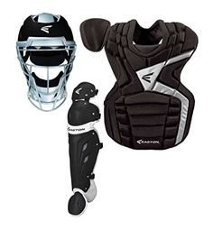 Bike Cargo Boxes - Easton YOUTH Mako Baseball Catchers Package Black Shins Chest Protector Helmet * You can find more details by visiting the image link.