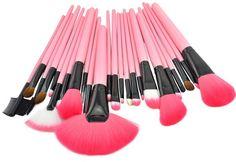 Makeup Brushes 24 pcs/set Overall Cosmetic Brushes Professional Make up Brush 4colors Nylon Fibre Wood Brushes