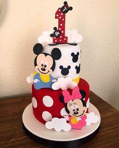 Mickey and Minnie Twins Cake