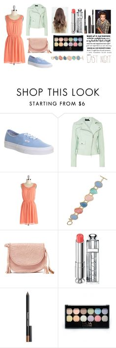"""""""Night out with Brad"""" by sarahorantomlinson ❤ liked on Polyvore featuring Vans, Karen Millen, Carolee, Sabrina Tach, Christian Dior, Butter London and Laura Mercier"""