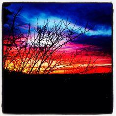 Amazing sunset in Chianti