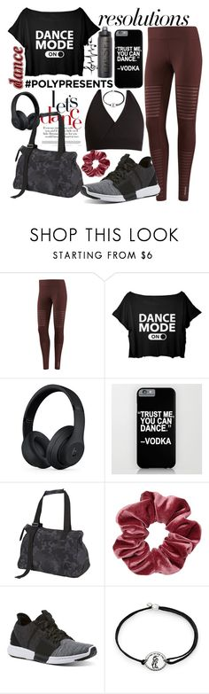 """#PolyPresents: New Year's Resolutions - 11. Dance"" by cm-christy ❤ liked on Polyvore featuring Reebok, Beats by Dr. Dre and Alex and Ani"